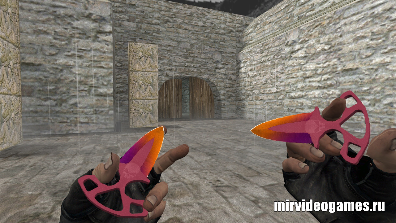 Модель ножа HD «Shadow Daggers | Fade Remake» для CS 1.6