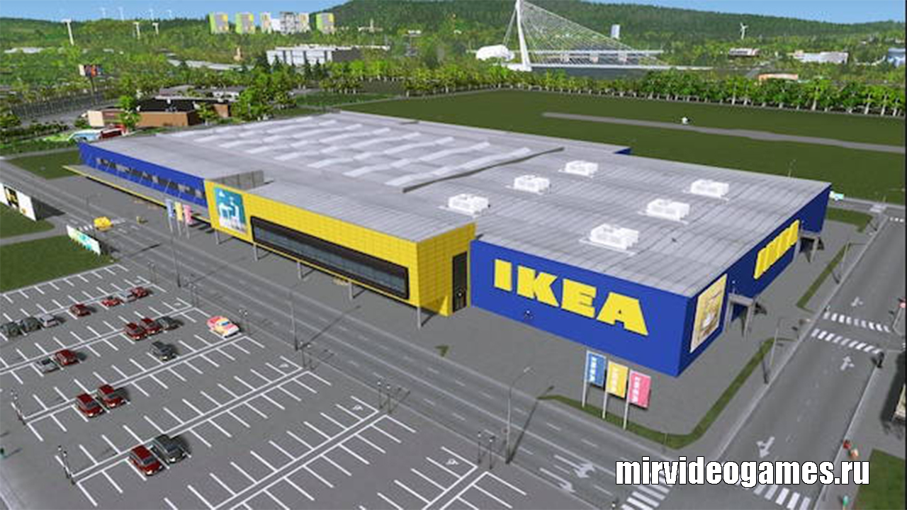 Здание IKEA v.2 для Cities: Skylines