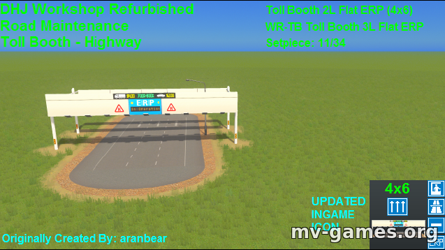 Мод Toll Booth 3L Flat ERP 2 (4×6) для Cities: Skylines