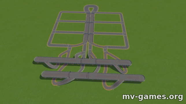 Highway Intersection для Cities: Skylines