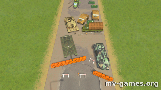 Парк Military road block – 2-lane для Cities: Skylines