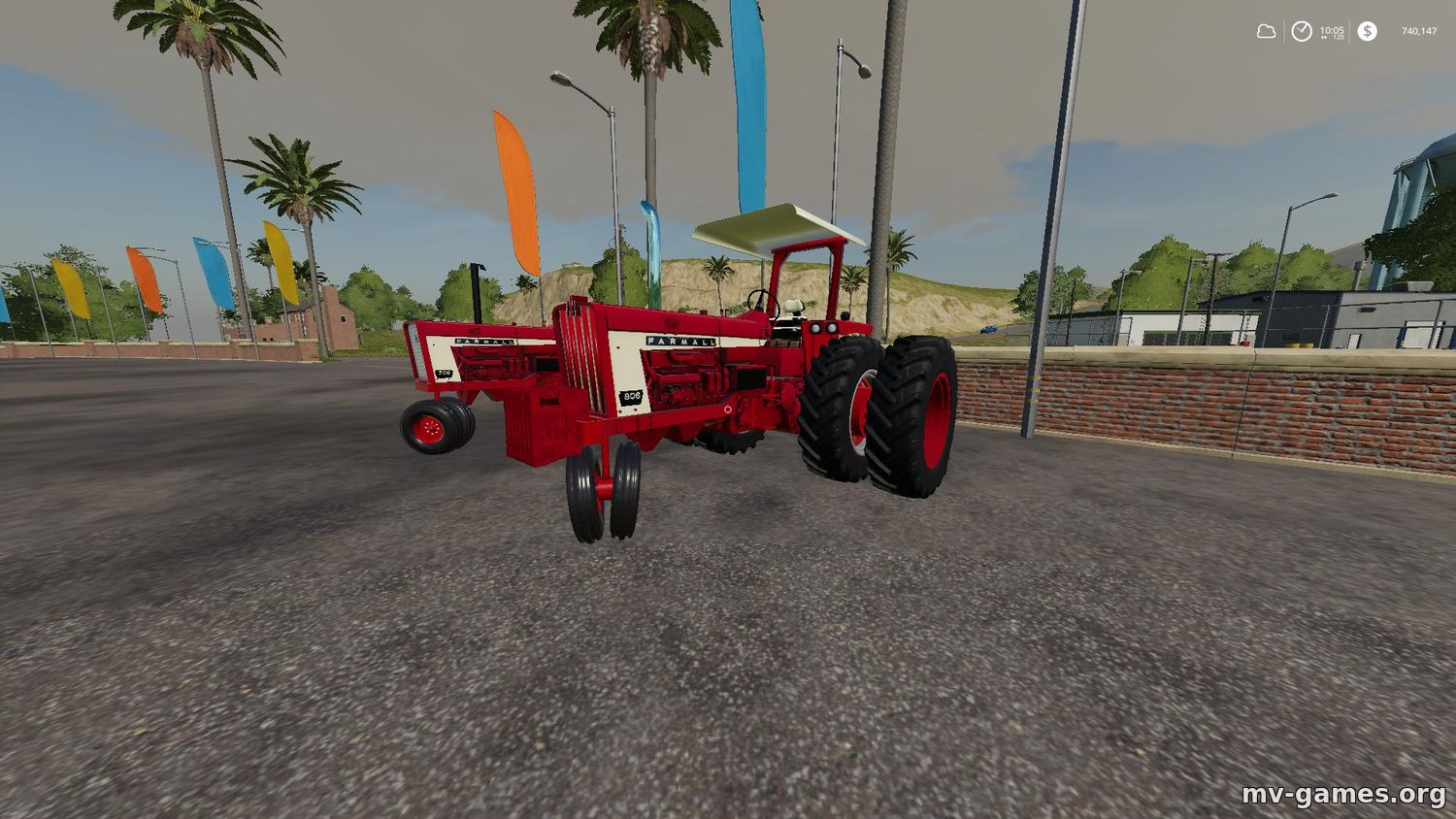 Мод Farmall 706/806 Narrow front для Farming Simulator 2019