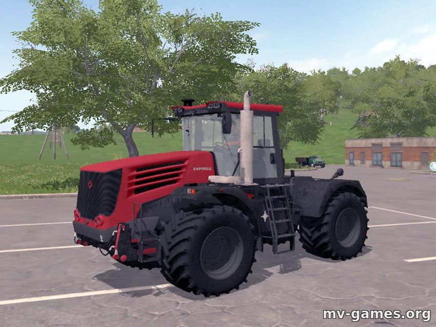 Мод на Kirovec MR K-744 P4 v 1.0 (с отвалом) для Farming Simulator 2017