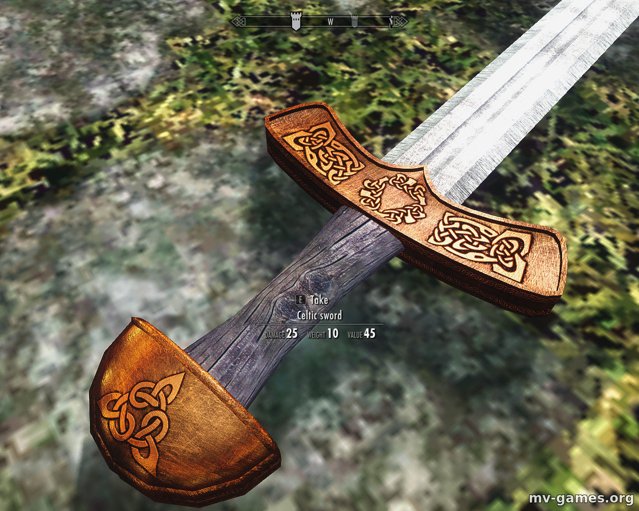 Мод Celtic sword для Skyrim