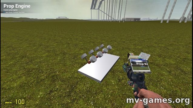 Мод Prop Engine Maker Tool для Garry's Mod