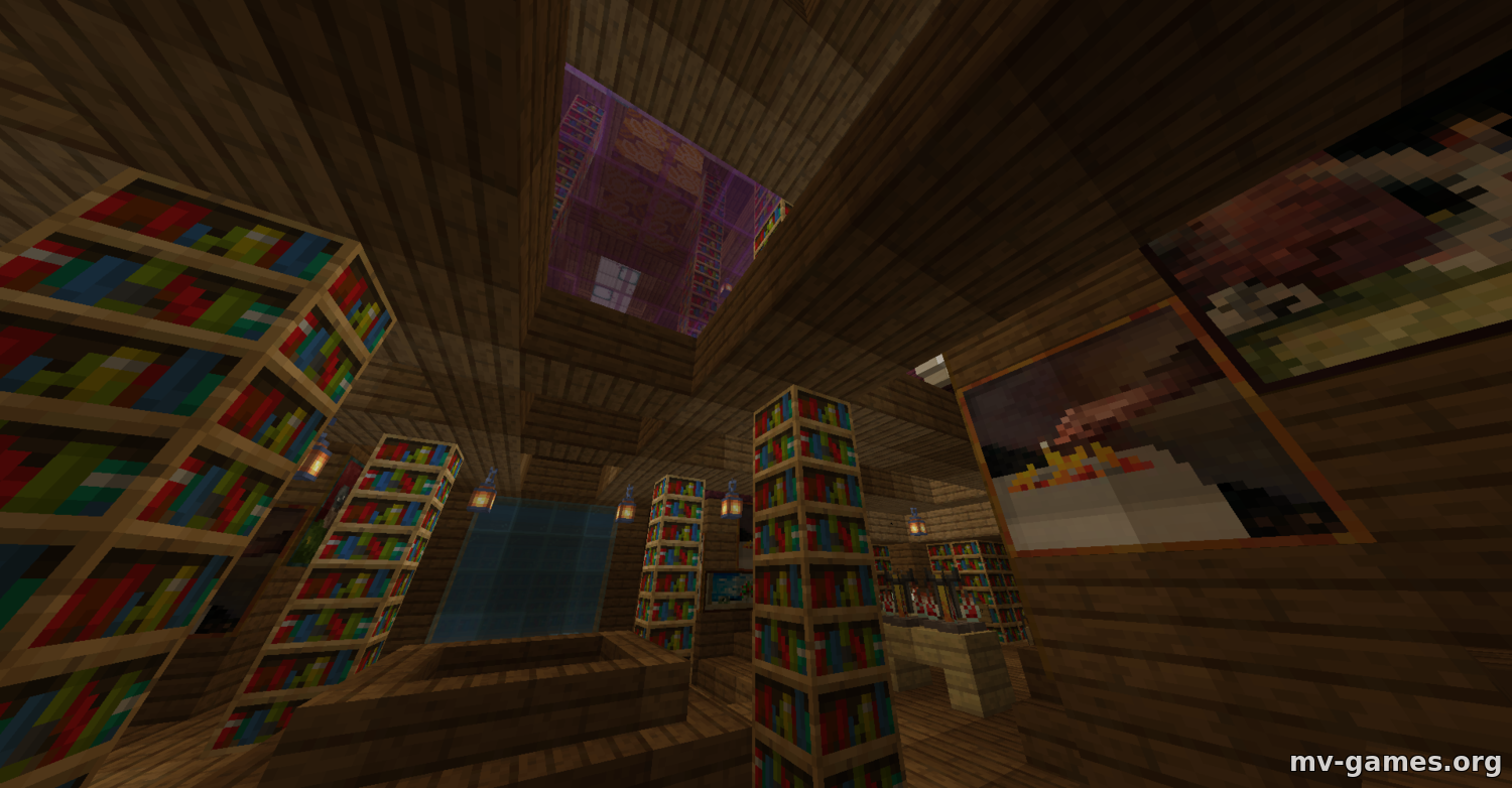 Карта Escape the Library для Minecraft 1.16.4